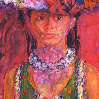 宮本三郎 《(婦人像)》 1969年頃 額装  ともかく出色の出来栄え、宮本の人物画は天下一品です_画像3