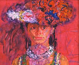 宮本三郎 《(婦人像)》 1969年頃 額装  ともかく出色の出来栄え、宮本の人物画は天下一品です_画像2