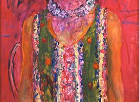 宮本三郎 《(婦人像)》 1969年頃 額装  ともかく出色の出来栄え、宮本の人物画は天下一品です_画像4