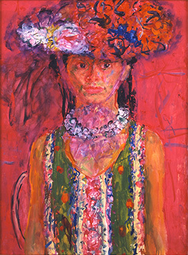 宮本三郎 《(婦人像)》 1969年頃 額装  ともかく出色の出来栄え、宮本の人物画は天下一品です