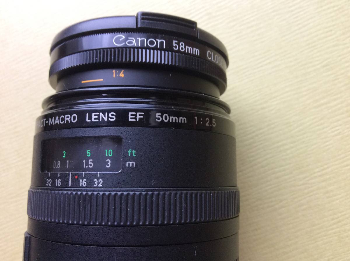 CANON キャノン レンズ COMPACT-MACRO LENS EF 50mm 1:2.5+ CANON 58mm CLOSE-UP LENS 240 ♪_画像3