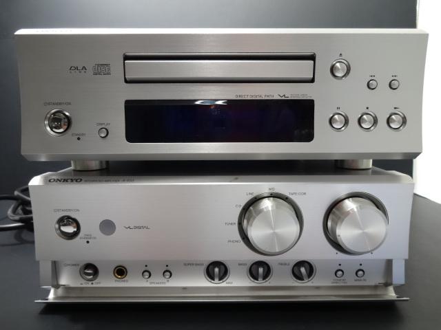 ★ONKYO オンキヨー コンパクトディスクプレイヤー C-733&インテグレーテッドアンプA-933 2点セット 現状販売品