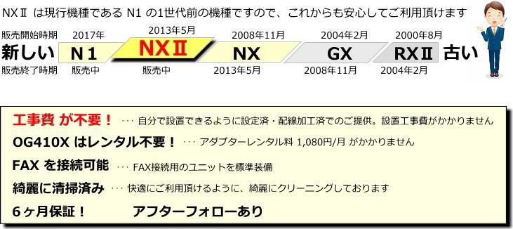 綺麗 NTT ビジネスフォン NXⅡ 電話機2台 ★ 設定済 オーダーメイド配線 ★ NX2 ひかり電話オフィス に対応 ★ αN1 N1 の1世代前の機種_画像4