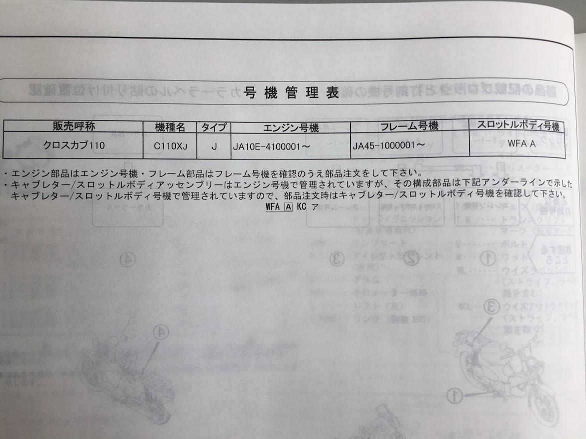 クロスカブ110(JA45)◆パーツカタログ_画像3