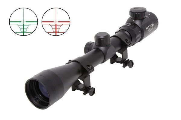 1円から 新品 ライフルスコープ 3-9×40E 光度11段階輝度調整可能 20mm レンズキャップ付き 20㎜マウントリング付き M14 VSR-10
