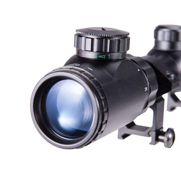 1円から 新品 ライフルスコープ 3-9×40E 光度11段階輝度調整可能 20mm レンズキャップ付き 20㎜マウントリング付き M14 VSR-10_画像2