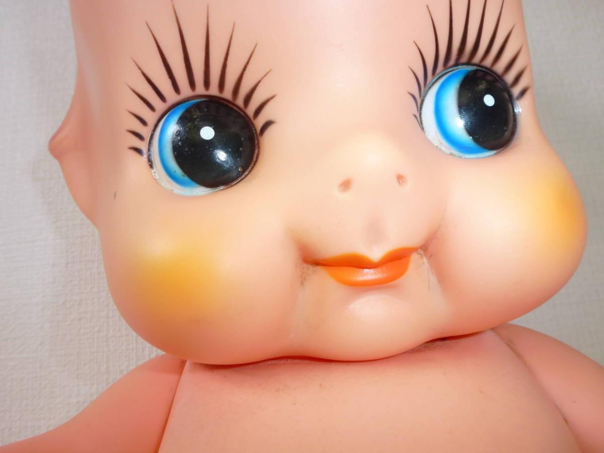 レトロ 特大キューピー人形 ソフビ 約52㎝_画像3