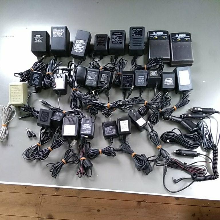 ACアダプター大量 充電器 シガーソケット給電ケーブルなど まとめて