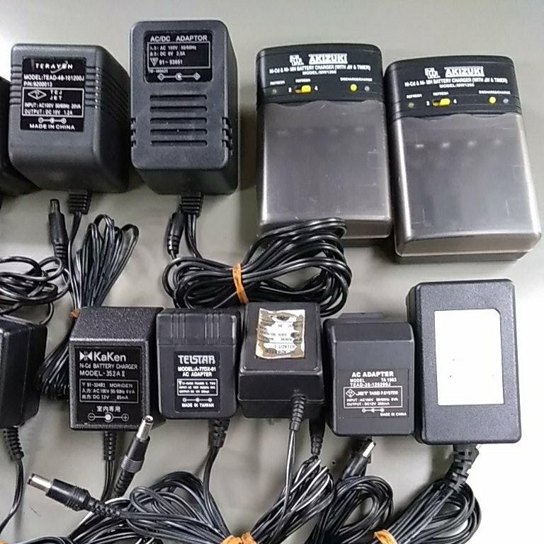 ACアダプター大量 充電器 シガーソケット給電ケーブルなど まとめて_画像3