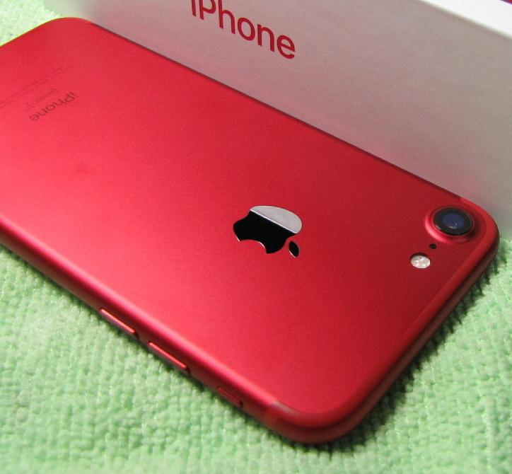 傷なし 新品同様美品 SIMフリー 化済 Apple iPhone7 128GB レッド docomo版 SIMロック解除済 格安SIM OK iphone 7 スピード発送_画像9