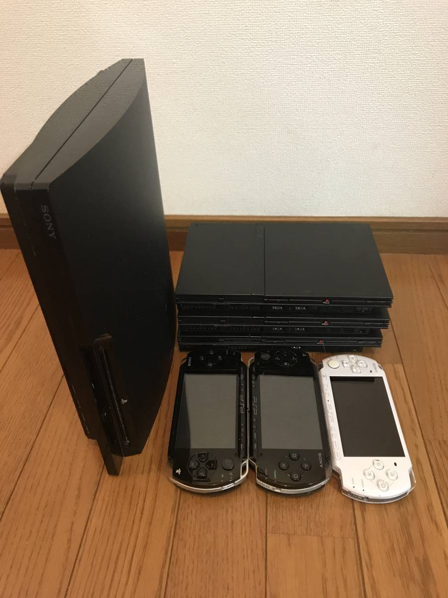●SONY PS3薄型本体+PS2薄型本体3台+PSP本体3台 合計本体7台ジャンク