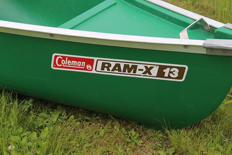 6UP771Gawx 北海道発 Coleman RAM-X 13 カナディアンカヌー コールマン アウトドア_画像2