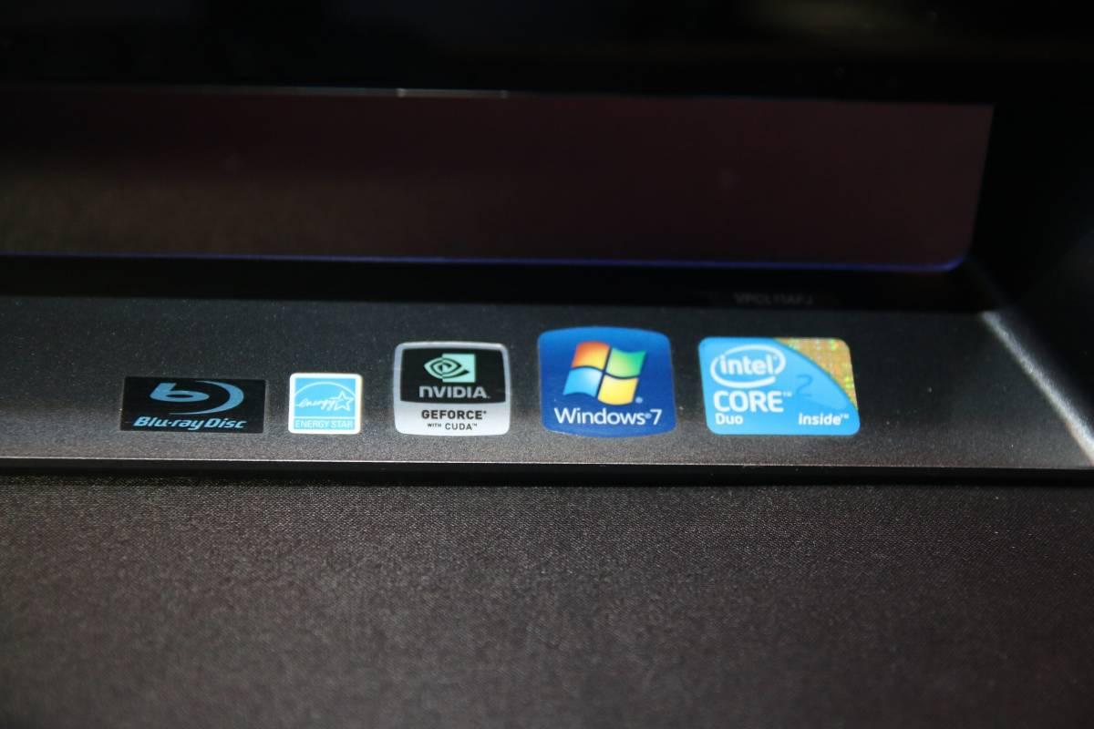 即決 VAIO VPCL11AFJ PCV-A1111N CORE 2 DUO E8500 GeForce GT 240M 4GB 500GB HDD Windows 7 地デジ BS CS 一体PC BD ブルーレイ_画像3