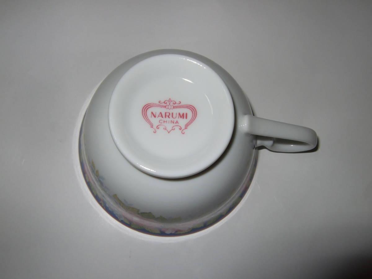 NARUMI CHINA ナルミ チャイナ コーヒー 碗皿 カップ&ソーサー 5客 花柄 未使用_画像5