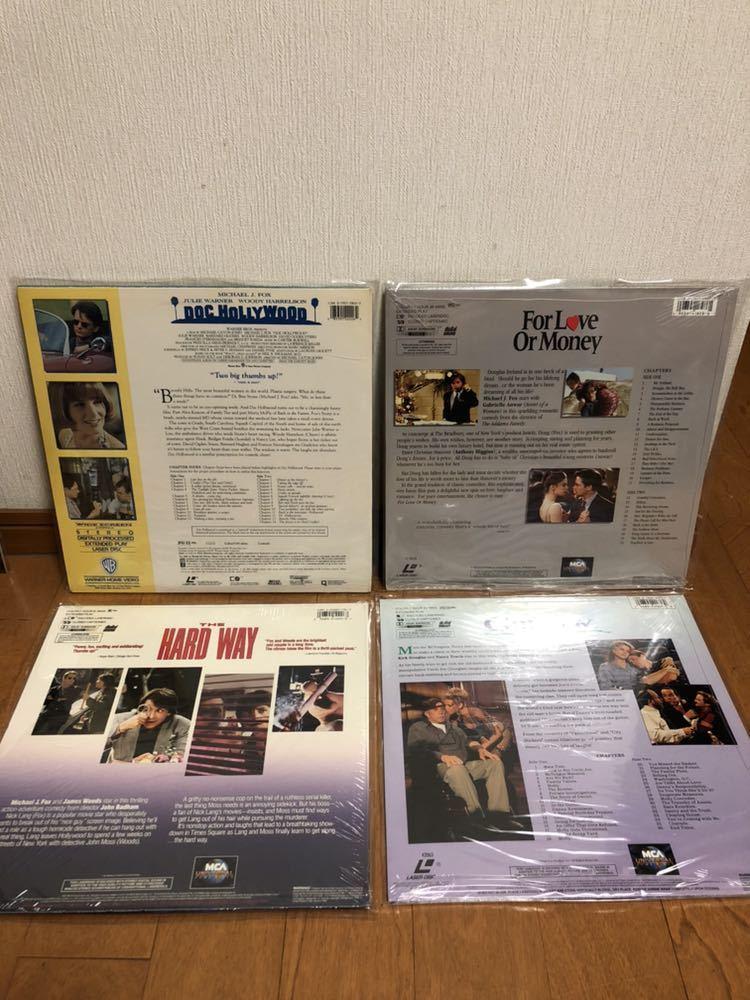 【新品】マイケル・J・フォックス Michael J. Fox 主演映画 LDレーザーディスク 4枚セット 洋画 輸入盤 ハード・ウェイ バラ色の選択 他_画像2