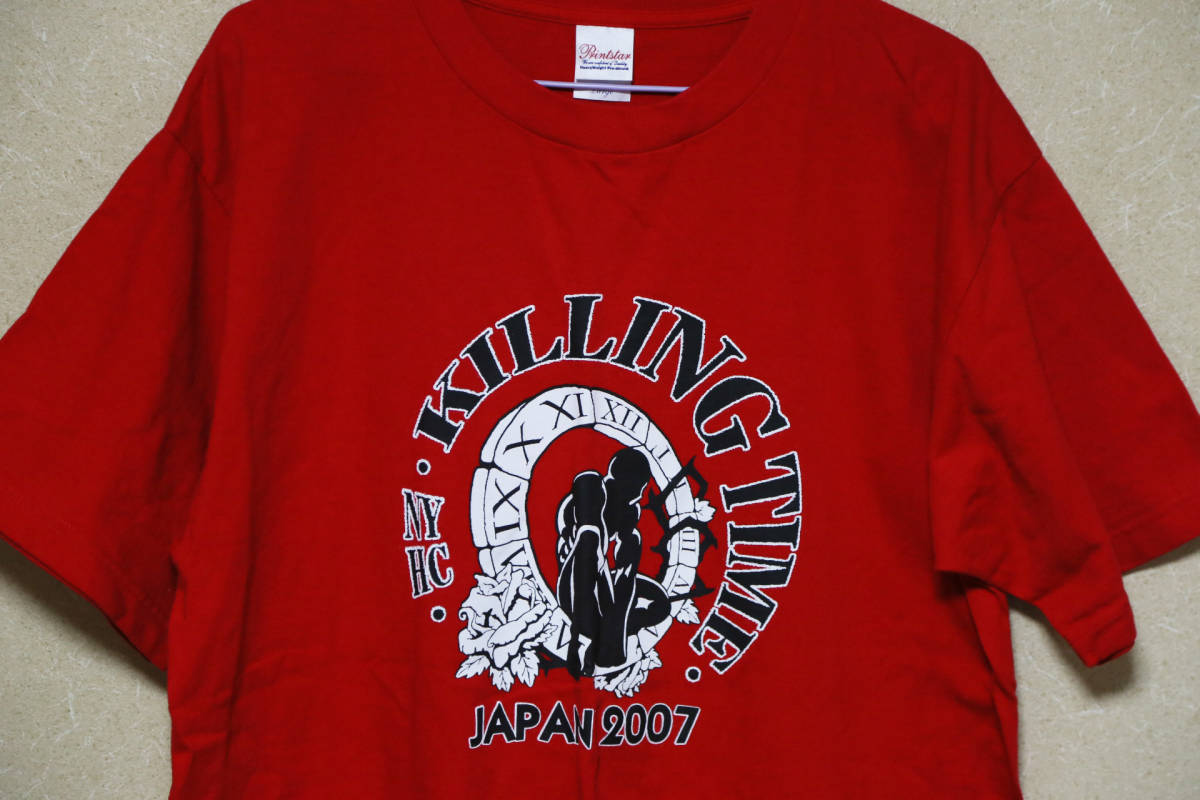 ☆KILLING TIME JAPAN TOUR 2007 Tシャツ 未使用美品 RAW DEAL BREAKDOWN AGNOSTIC FRONT MADBALL CRO-MAGS WARZONE JUDGE NYHC☆