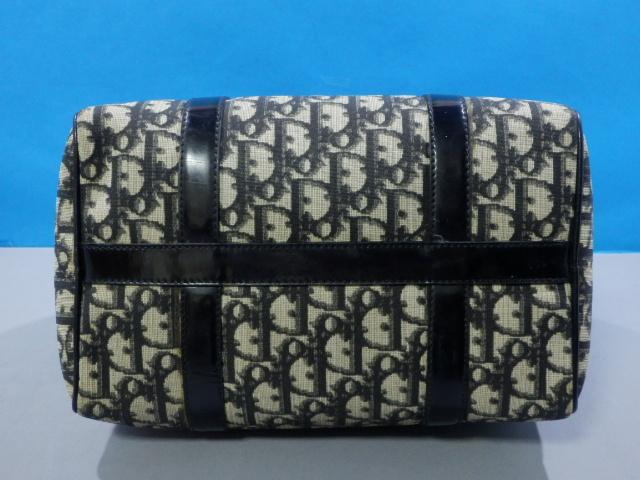 1円 Dior ディオール PVC×エナメル トロッター ハンド バッグ ブラック×ゴールド_画像6