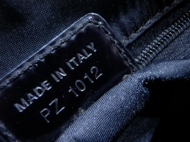 1円 Dior ディオール PVC×エナメル トロッター ハンド バッグ ブラック×ゴールド_画像10