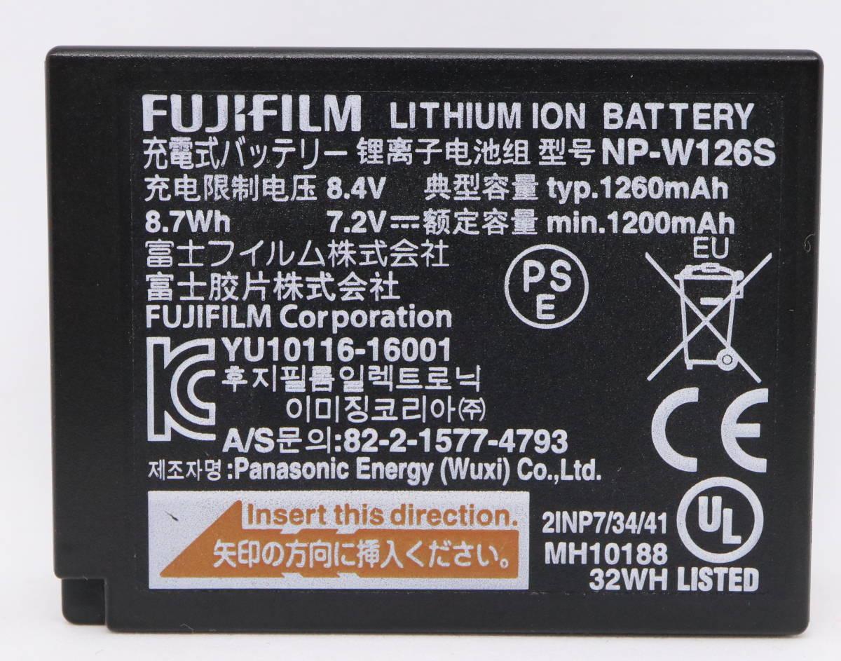 【純正品】 FUJIFILM 富士フィルム バッテリー NP-W126S 動作確認済み X-T1, X-T2, X-T3, X-H1, X-T10, X-T100, X-E1, X-E2, X-E3 等用_画像2