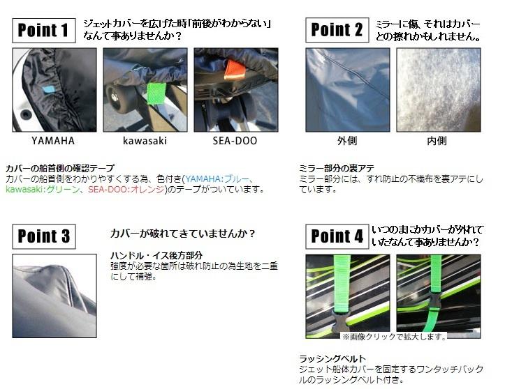 【sea1278】カワサキ ジェットスキー 1100STS、1100STX用 船体カバー 日本製 LABIOS K-3_画像7