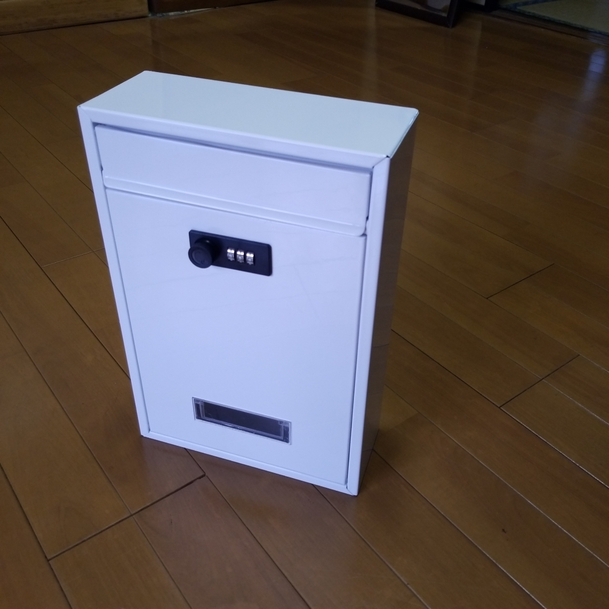 Jssmst メールboxポスト 郵便受け ダイヤル式 暗証番号 金属製 Mail-06 ホワイト