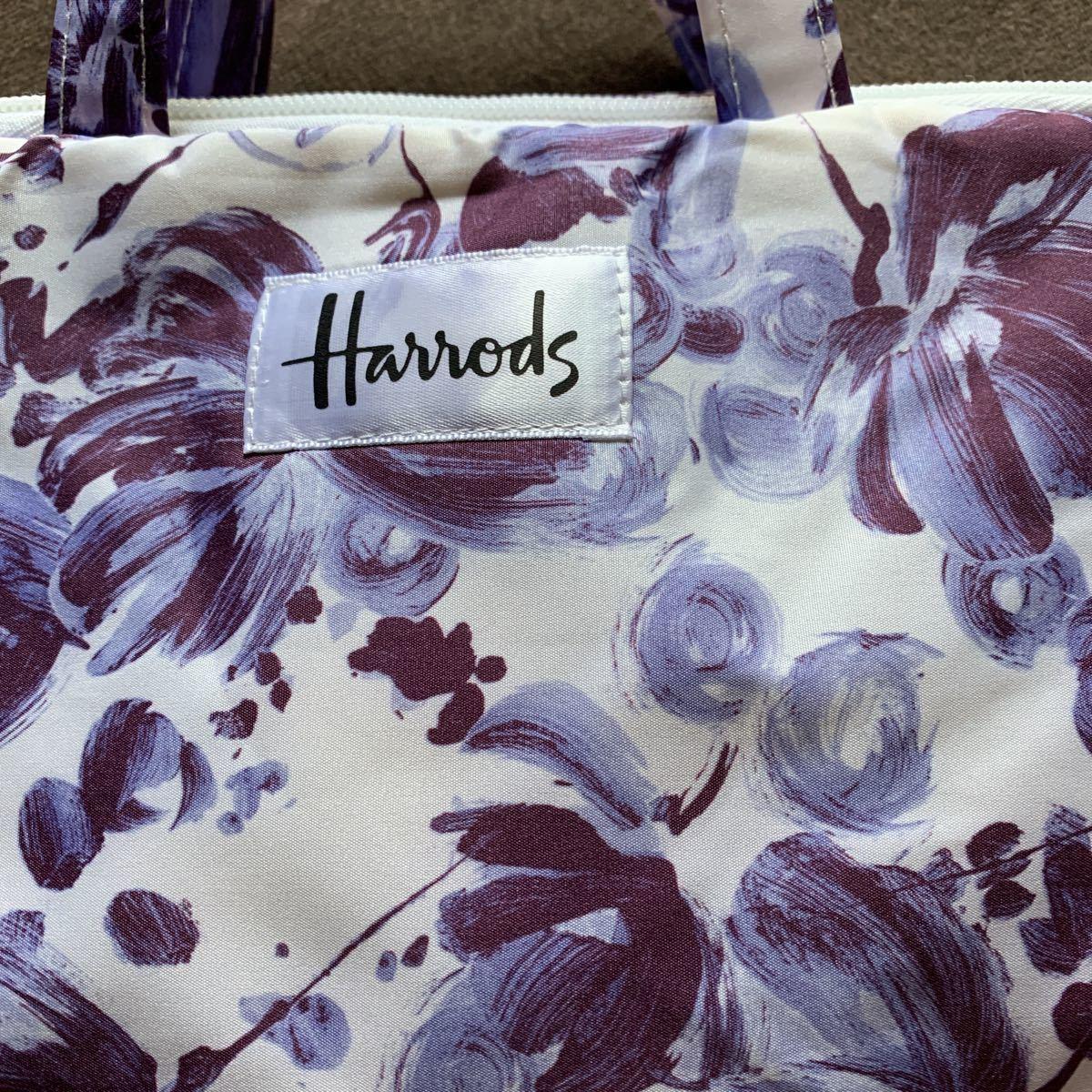 新品 Harrods トラベルポーチ花柄 _画像2