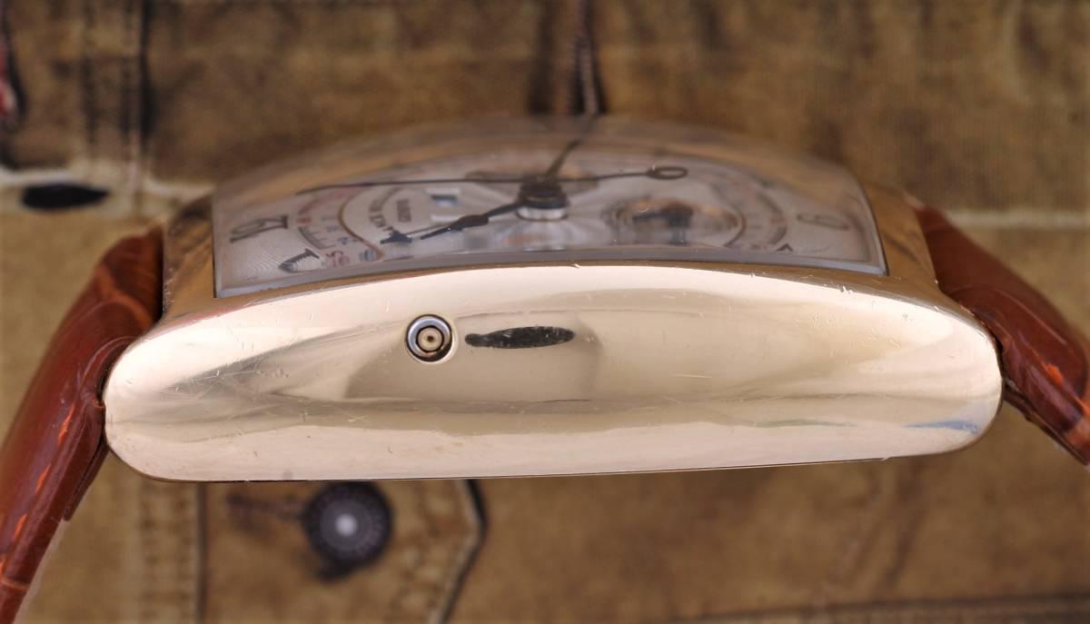 中古美品 フランク・ミュラー Franck Muller マスターカレンダー クロノグラフ 6850CC MC MAGNUM 手巻き メンズ ピンクゴールドケース _画像4