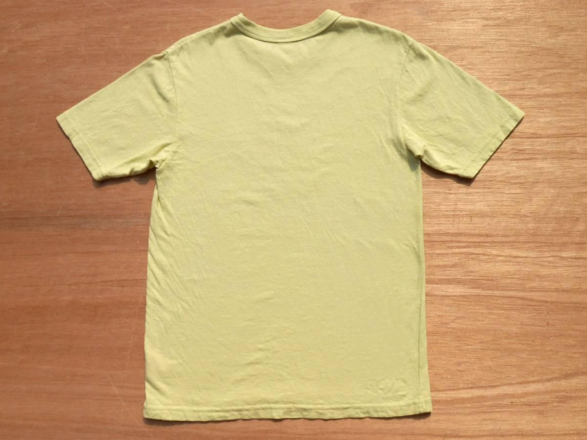 UES ウエス 半袖 プリント Tシャツ 2 M 製品染め ICE CREAM イエロー 黄 アイスクリーム THE CRACKER ザクラッカー _画像2