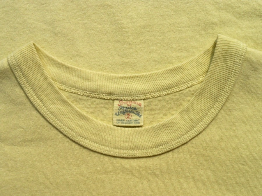UES ウエス 半袖 プリント Tシャツ 2 M 製品染め ICE CREAM イエロー 黄 アイスクリーム THE CRACKER ザクラッカー _画像4