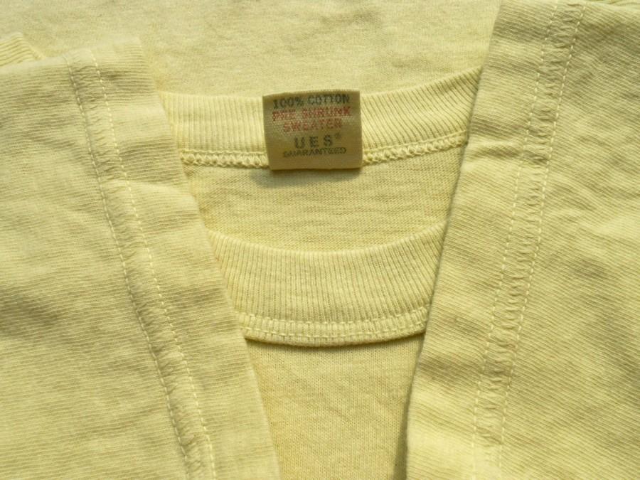 UES ウエス 半袖 プリント Tシャツ 2 M 製品染め ICE CREAM イエロー 黄 アイスクリーム THE CRACKER ザクラッカー _画像5