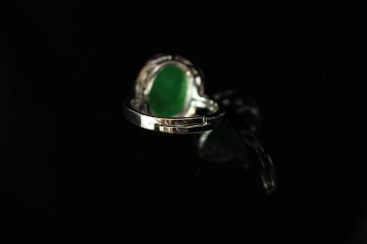 【最上】新品 本翡翠 指輪 満緑翡翠 アンティーク シルバー925 指輪 リング 根付 官領 翡翠官帽装 ひすい ヒスイ 263A12_画像9