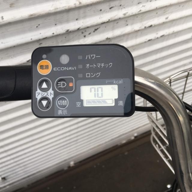 YA046 Panasonic ビビBUDDY ブラック 8AH 26インチ 充電器付属 電動アシスト自転車【横浜】_画像9