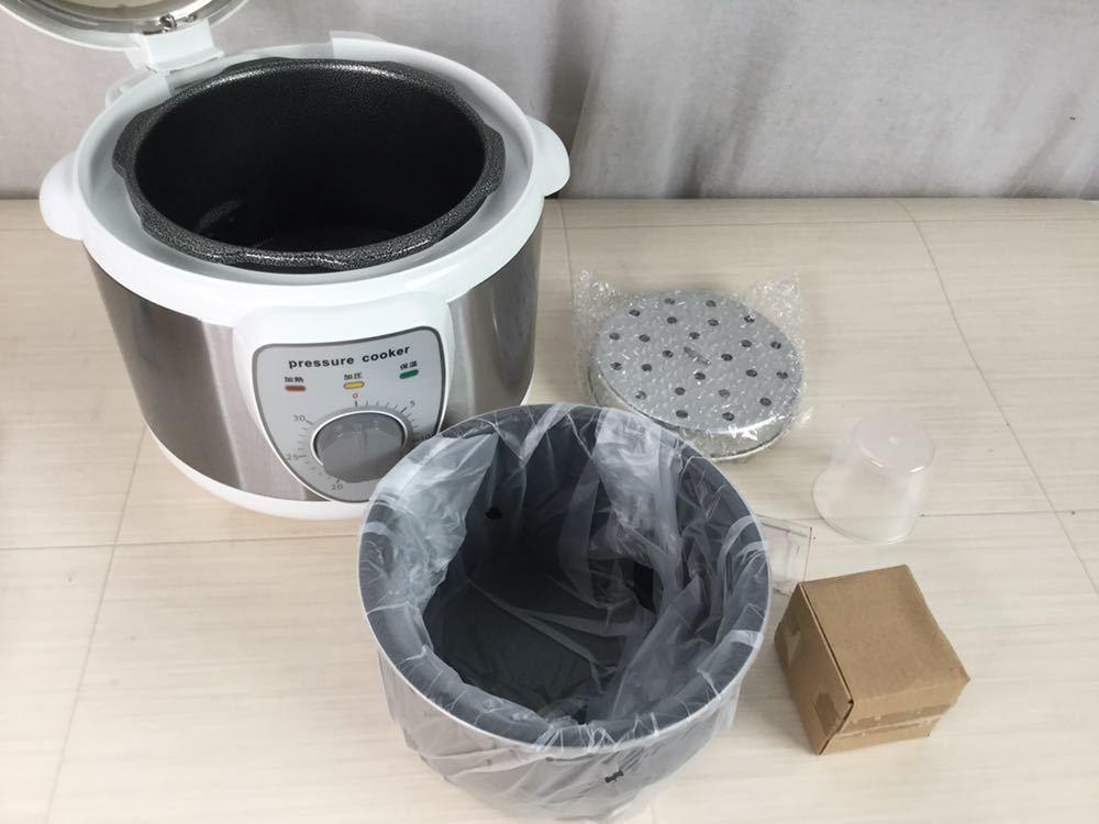 100s 未使用 ALCOLLE アルコレ プレッシャークッカー 圧力式電気鍋 APC-T19/W 圧力鍋 2015年製 家庭用 3.0L 家電 電気 調理器具 箱付き_画像7