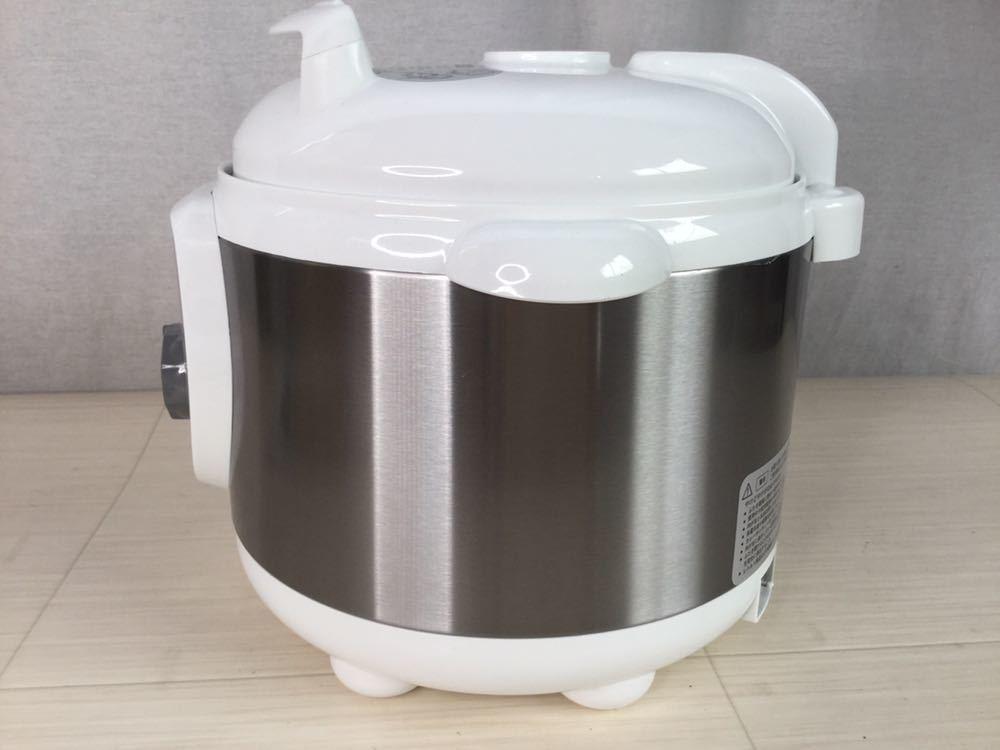 100s 未使用 ALCOLLE アルコレ プレッシャークッカー 圧力式電気鍋 APC-T19/W 圧力鍋 2015年製 家庭用 3.0L 家電 電気 調理器具 箱付き_画像3