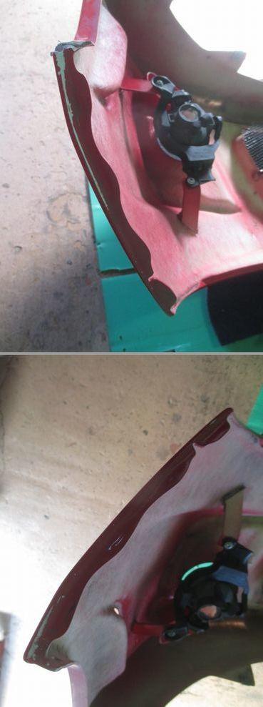 DE デミオ DUCKS GARDEN フロント エアロ バンパー カラー№ A4A _画像10