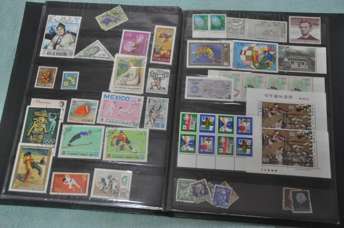 ☆切手 未使用 使用品 外国切手も一部あるかも バラ 大量 記念切手 昭和 ①☆_画像9