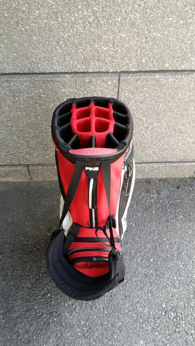 PING Hoofer14 STAND BAG ピン フーファー14 スタンドバッグ RED/WHITE/BLACK_画像3