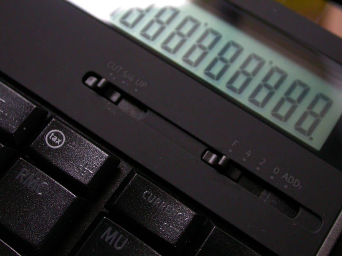 送料無料 匿名取引 amadana 電卓 レザーケースセット (ブラック) LC-704-BK 中古良品_画像3