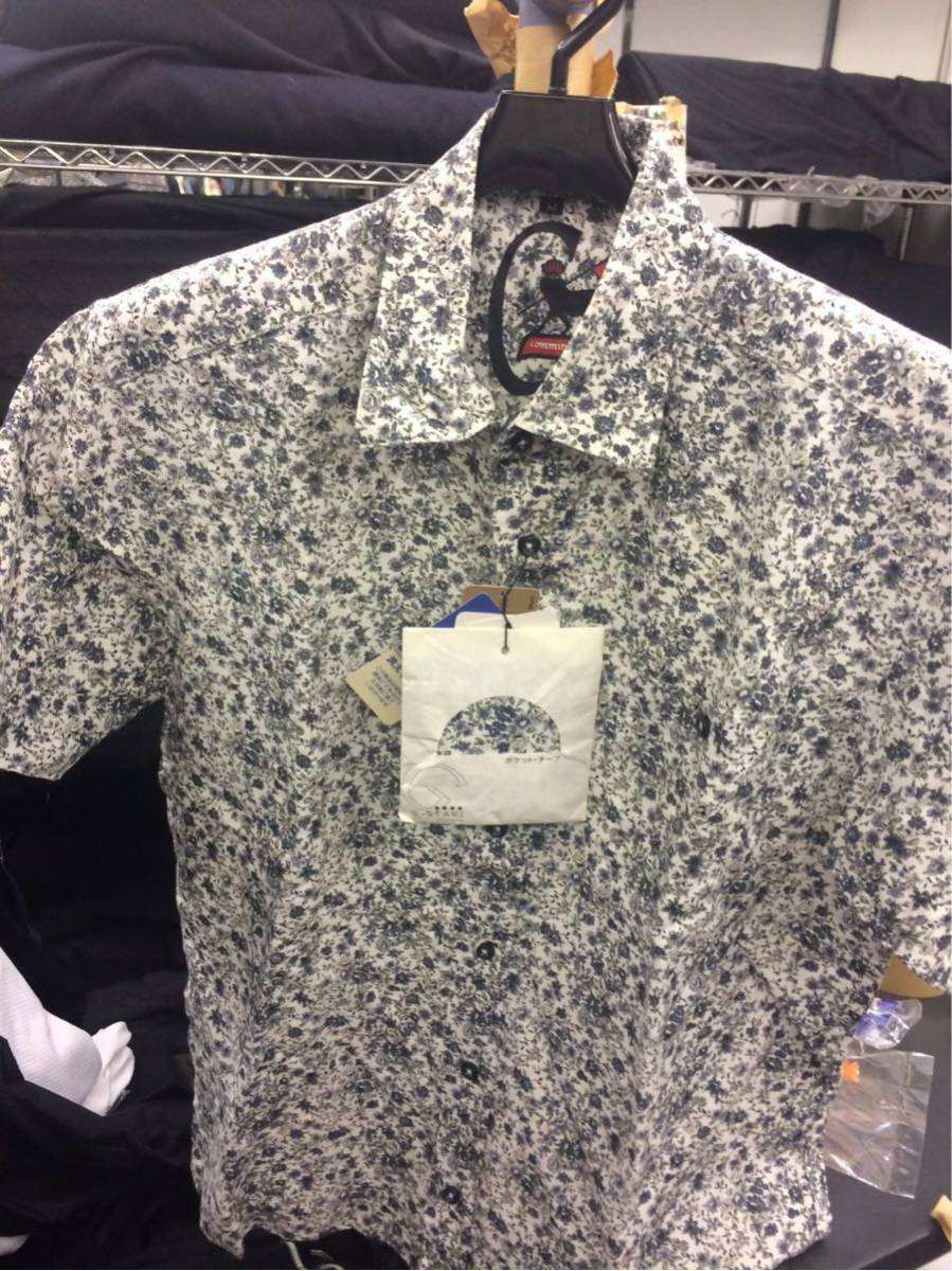 G-STAGE ジーステージ ワイシャツ Mサイズ 花柄 グレー ハンカチ付き