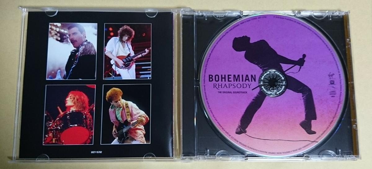 クイーン ボヘミアン・ラプソディ(オリジナル・サウンドトラック) 日本盤 UICY-15762 非レンタル品 クリーニング・ケース交換・動作OK #b1_画像2