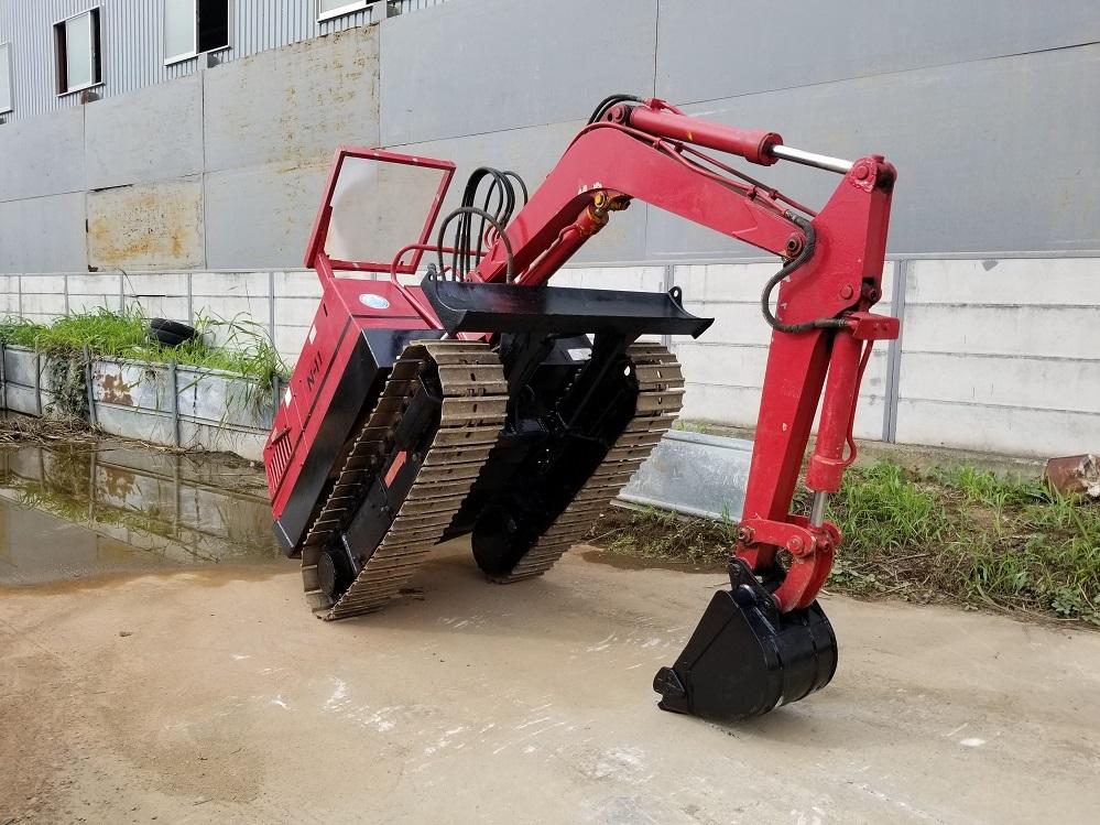 売切り 日産 N-11SS 油圧ショベル 2t NISSAN ユンボ 2トン 鉄シュー仕様 排土板 ディーゼル エンジン 1545時間_画像2