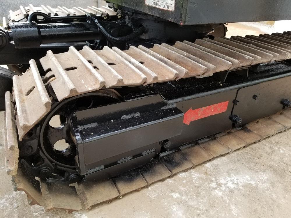 売切り 日産 N-11SS 油圧ショベル 2t NISSAN ユンボ 2トン 鉄シュー仕様 排土板 ディーゼル エンジン 1545時間_画像10