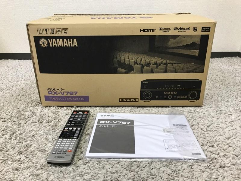 【極美品】YAMAHA RX-V767 7.1ch AVレシーバーアンプ ブラック 元箱・取説・リモコン付き 中古♪_画像9
