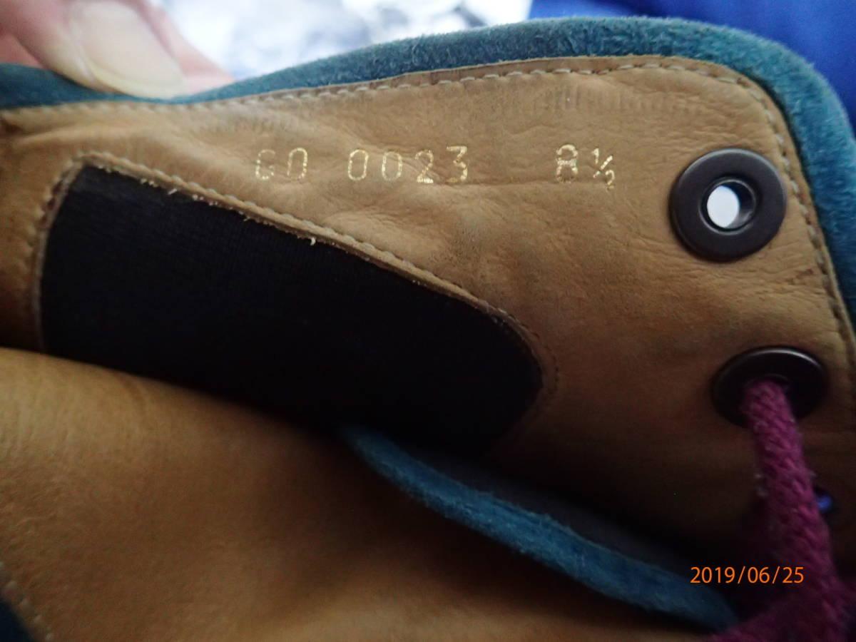 ラスト!激レア美品 高島屋購入 限定品 コレクション LOUIS VUITTON ルイヴィトン メンズ ヌメ皮製 ハイカット スニーカー シューズ 26~27cm_画像8