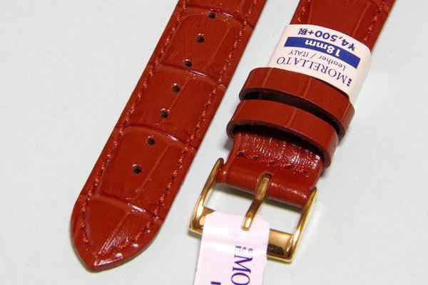 【交渉可・送料無料】18mm幅 イタリア・モレラート SAMBA(サンバ) ゴールドブラウン 簡単取り付けのクリッカー仕様_画像3