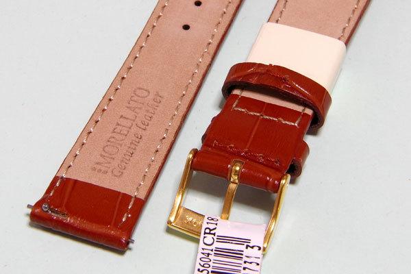 【交渉可・送料無料】18mm幅 イタリア・モレラート SAMBA(サンバ) ゴールドブラウン 簡単取り付けのクリッカー仕様_画像4