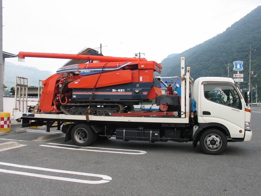 オークション運送、運びます、日本全国離島まで、コンバイン、トラクター、田植え機、リフト、ユンボ_画像2