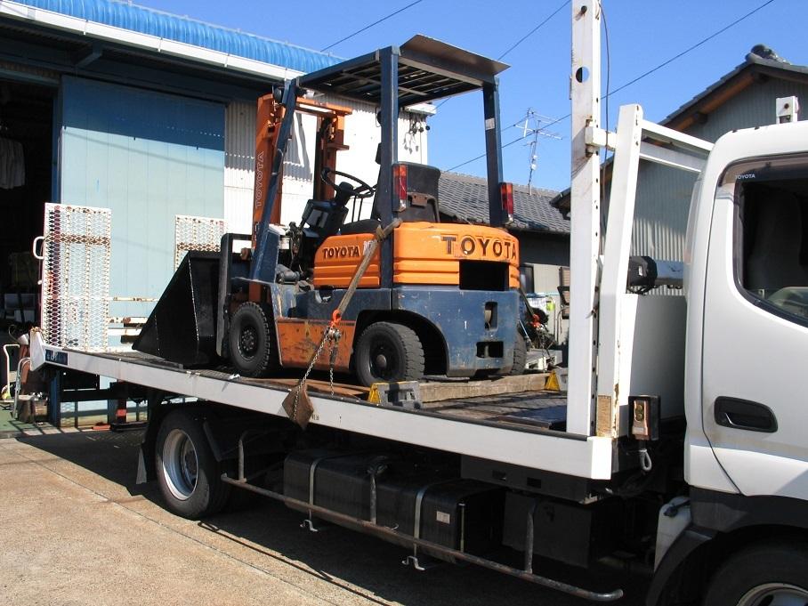 オークション運送、運びます、日本全国離島まで、コンバイン、トラクター、田植え機、リフト、ユンボ_画像3