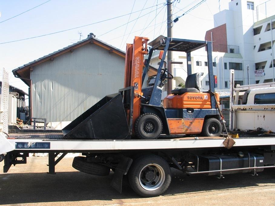 オークション運送、運びます、日本全国離島まで、コンバイン、トラクター、田植え機、リフト、ユンボ_画像4