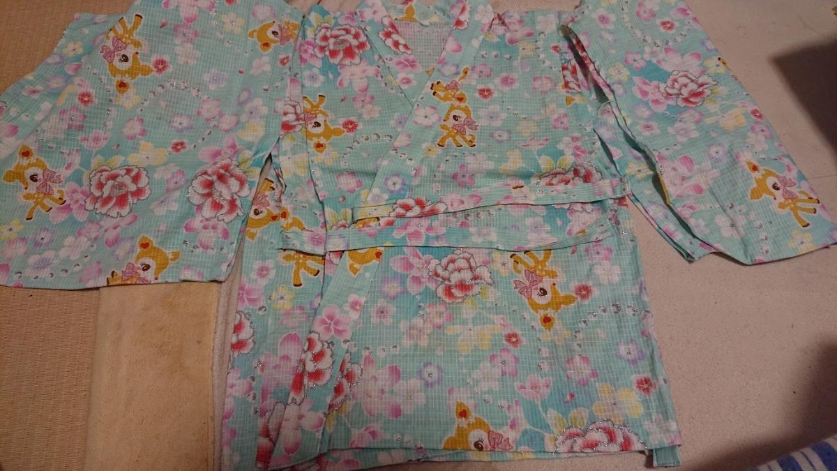 【新品】サンリオ ハミングミント 浴衣 帯付き 110㎝ 6370円のお品_画像3